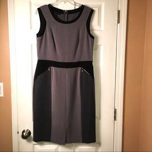 Jones New York Gray n Black Dress Size 12